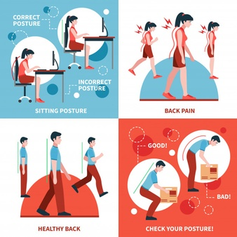 postur tubuh benar