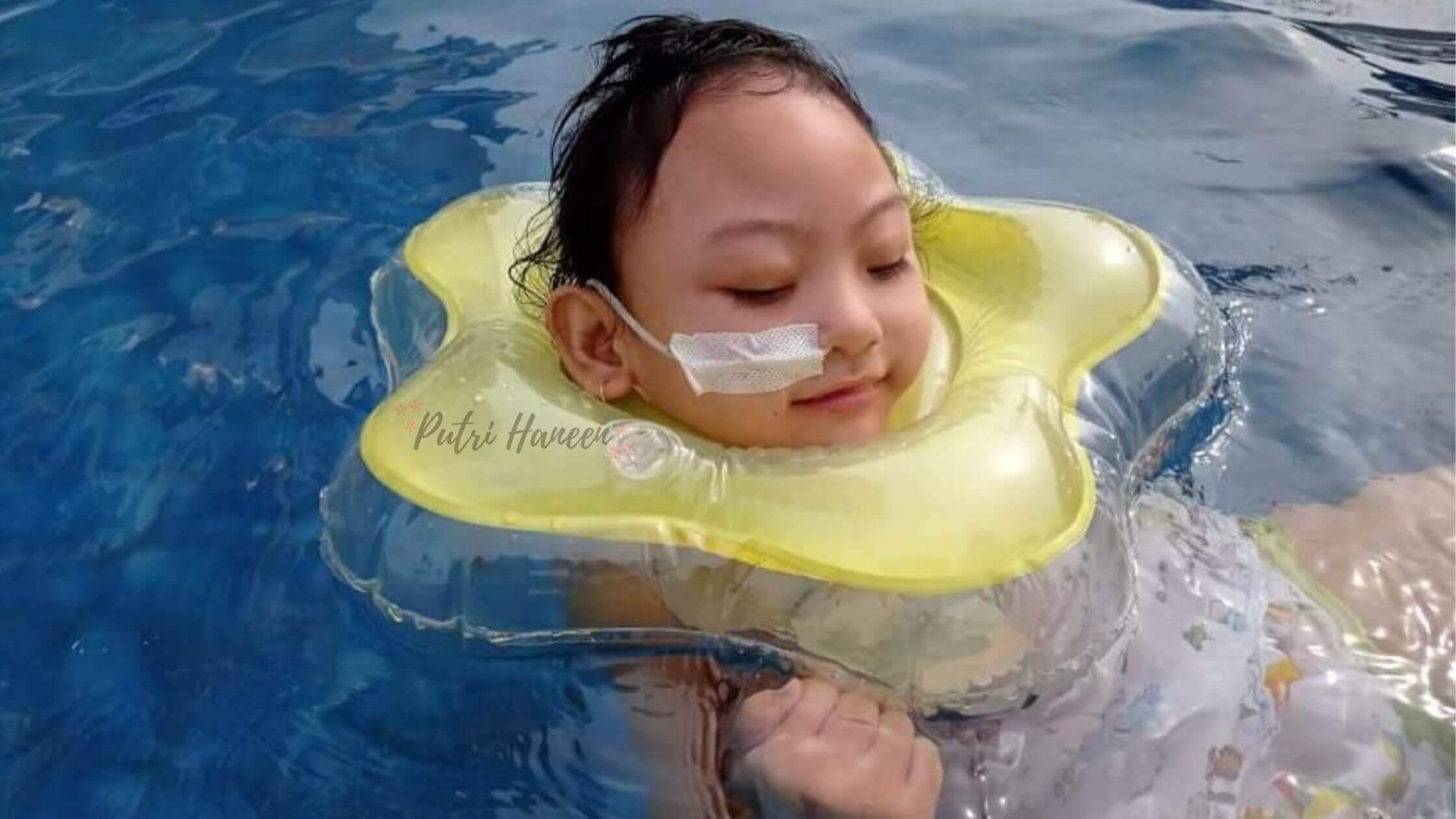 anak berenang dihotel pandemi
